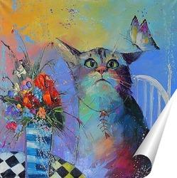 Постер Кот и Бабочка