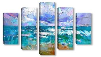 Модульная картина Море волнуется раз...