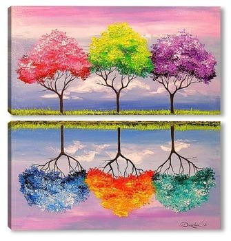 Модульная картина Сказочные деревья