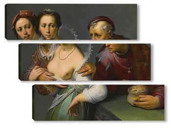 Модульная картина Выбор между молодым и старым, 1597
