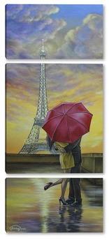 Модульная картина Свидание в Париже