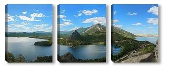Модульная картина Панорама озера Боровое