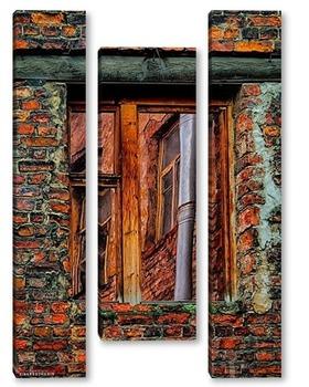 Модульная картина Урбанометрия. Окна. Отражения.