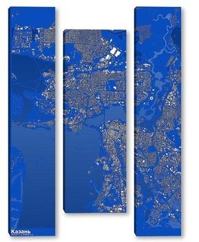 Модульная картина Карта Казани