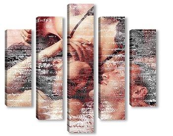 Модульная картина Влюбленные обьятия