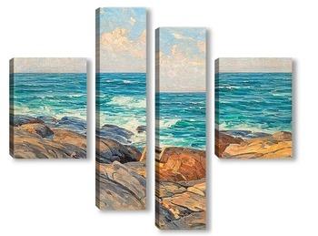 Модульная картина Скалы на берегу