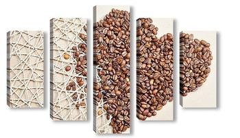 Модульная картина любовь к кофе
