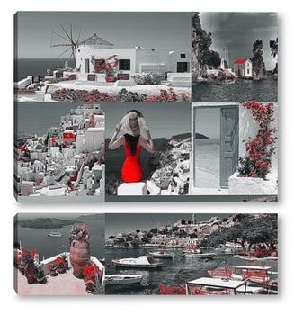 Модульная картина Виды Греции