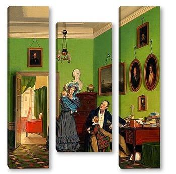 Модульная картина Семья Вааге-Петерсен, 1830