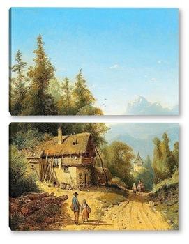 Модульная картина В Альпах