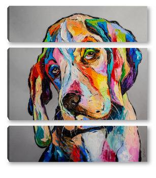 Модульная картина Собака-философ