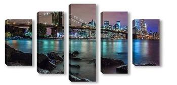 Модульная картина Brooklyn bridge