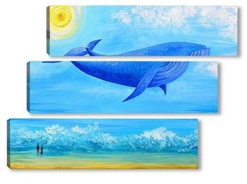 Модульная картина Синий кит мечты