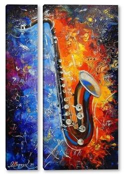 Модульная картина Мелодия саксафона