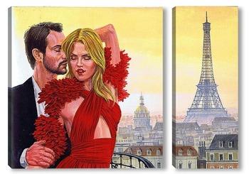 Модульная картина Вечер в Париже