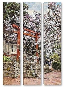 Модульная картина Сакура,храм Ёсино, Япония