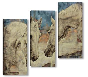 Модульная картина Две лошади