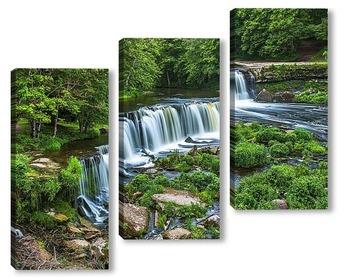 Модульная картина Природный парк и водопад в Keila-Joa