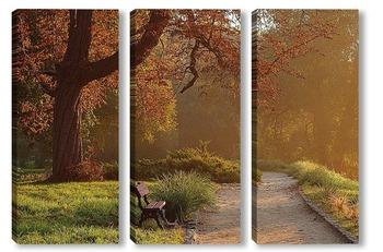 Модульная картина Утро в парке