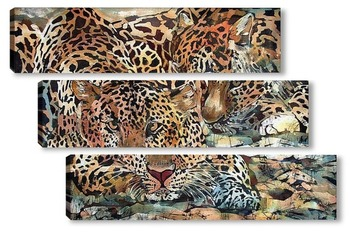 Модульная картина Гепарды