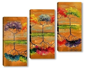 Модульная картина Каждое дерево пахнет по своему