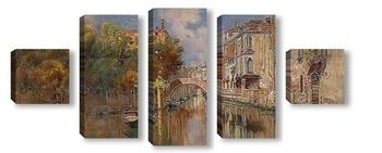 Модульная картина Вид на канал в Венеции