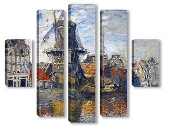 Модульная картина Мельница в Амсетрдаме