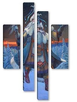 Модульная картина Тол бабай /Дед мороз(удмуртский эпос)