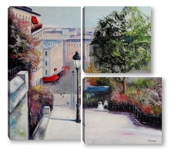 Модульная картина Париж