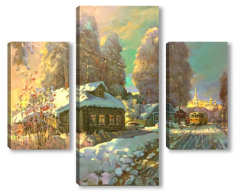 Модульная картина Добрая зима