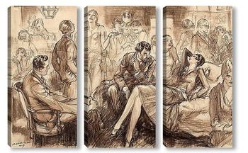 Модульная картина Изысканный вечер, 1927