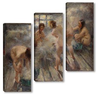 Модульная картина В русской бане