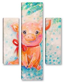Модульная картина Свинка