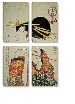 Модульная картина Utamaro003-1