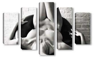 Модульная картина фрагмент сексуальности