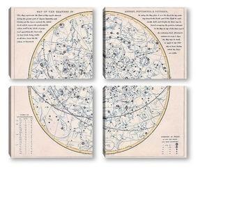 Модульная картина Звездные_63