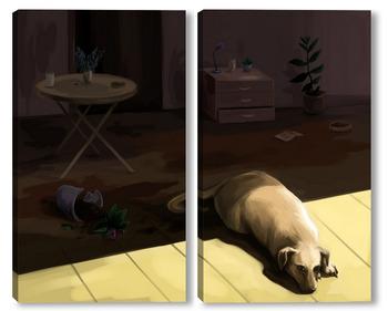 Модульная картина Собака