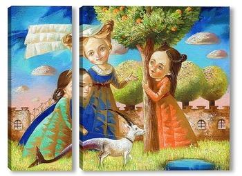 Модульная картина Волшебный сад