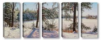 Модульная картина Декабрь. Мороз и солнце