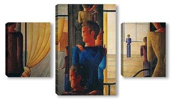 Модульная картина Группа Двенадцать с Интерьером