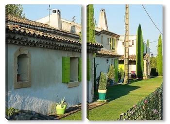 Модульная картина Сельский дом в Провансе