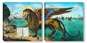 Модульная картина Лев Святого Марка