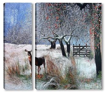 Модульная картина В зимнем саду
