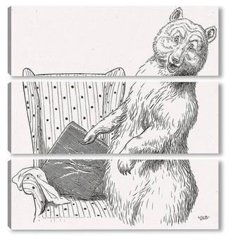 Модульная картина Кто сидел на моем стуле?