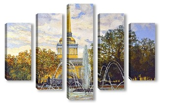 Модульная картина Поющий фонтан
