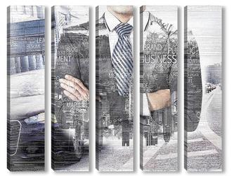 Модульная картина Бизнес-карта