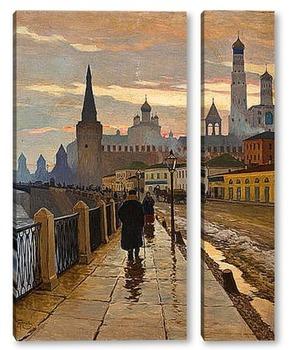 Модульная картина Вид на Кремль со стороны набережной Москвы-реки