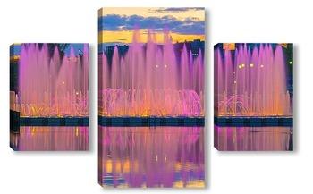 Модульная картина Танцующий фонтан в Царицыно