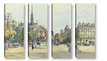 Модульная картина Место Св.Михаила в Париже