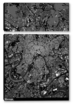 Модульная картина Карта Москвы